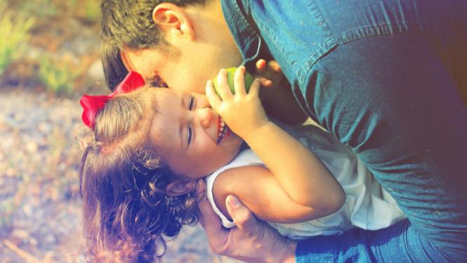 Ilustrasi anak dan orangtua