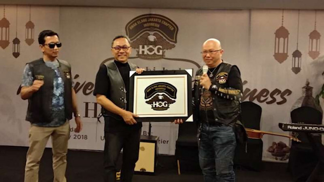 Zulkifli Hasan saat menghadiri acara Harley-Davidson