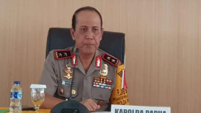 Kapolda Papua Irjen Pol Boy Rafli Amar konferensi pers di Mapolda Papua