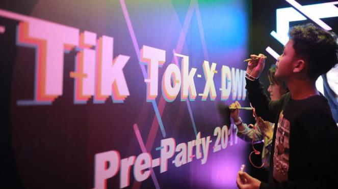 Acara Aplikasi Tik Tok di Jakarta.