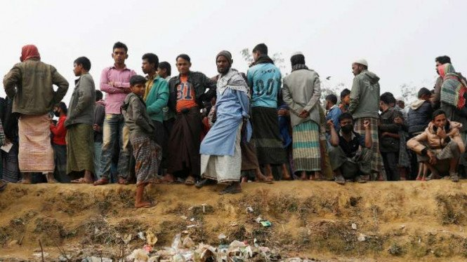 Warga Rohingya di kamp pengungsian di Banglandesh