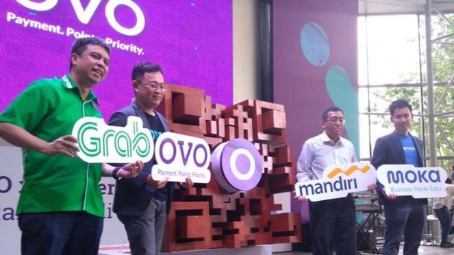 Platform pembayaran OVO dan empat perusahaan.