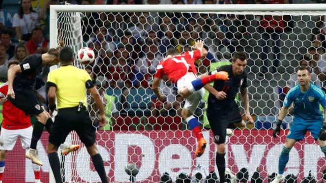 Timnas Kroasia melawan Rusia