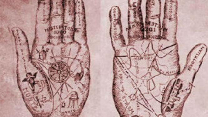 Ilustrasi garis tangan.