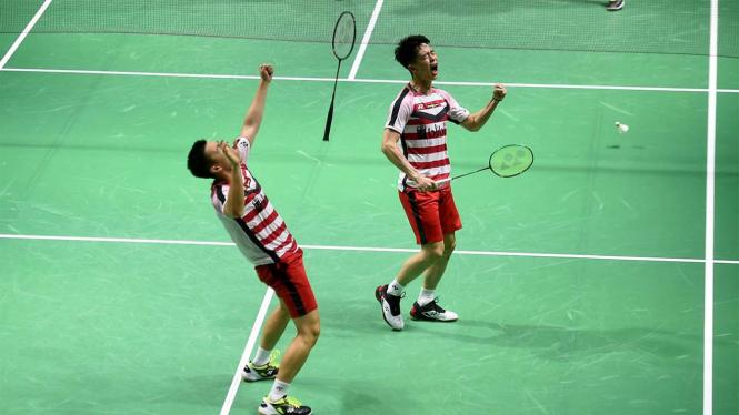 Marcus Gideon dan Kevin Sanjaya Juara Indonesia Open 2018