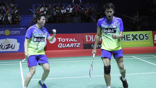 Owi/Butet Juara Ganda Campuran Blibli Indonesia Open 2018.
