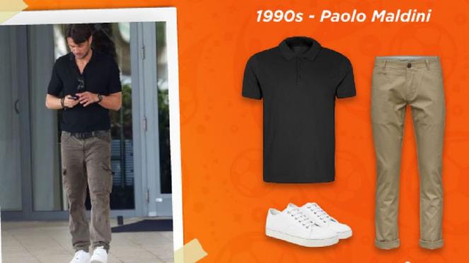 Gaya fesyen 1990an (Paolo Maldini)
