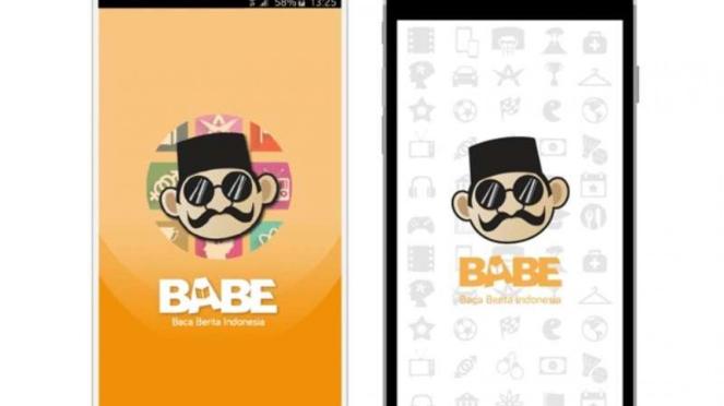 Aplikasi berita aggregator Baca Berita (BaBe).