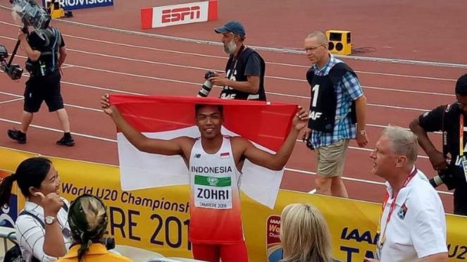 Pelari muda Indonesia, Muhammad Zohri