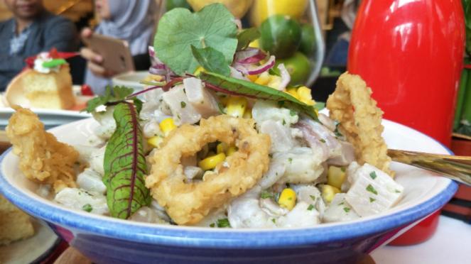 Salah satu hidangan khas Peru di Sailendra Restaurant, JW Marriott Jakarta.