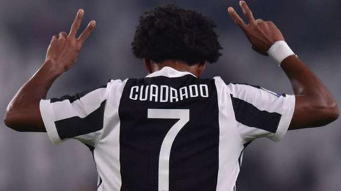 Gelandang Juventus, Juan Cuadrado.