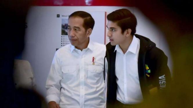 Presiden Joko Widodo dan Menpora Malaysia, Syed Saddiq Abdul Rahman.