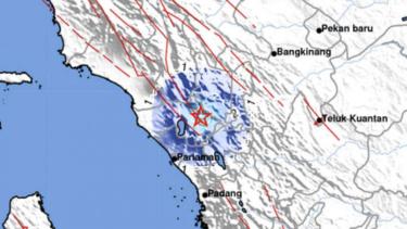 Ilustrasi Gempa darat Sumatera Barat.