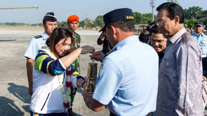 Api obor Asian Games 2018 tiba di Indonesia