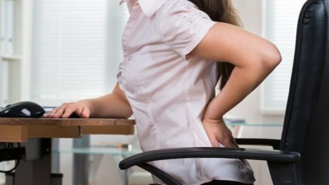 Ilustrasi low back pain/nyeri pinggang belakang/sakit pinggang.