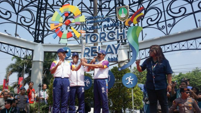 Obor Asian Games 2018 sudah masuk ke kawasan Solo