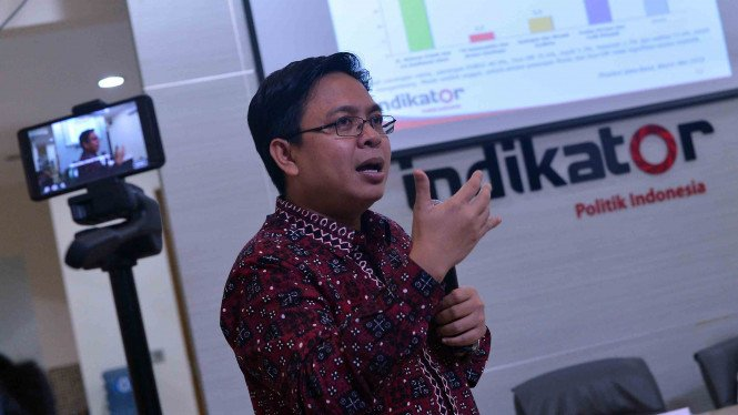 Direktur Eksekutif Indikator Politik Indonesia Burhanuddin Muhtadi.