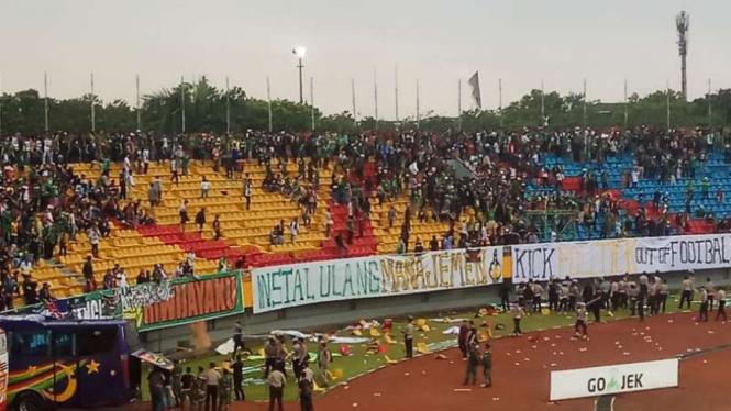 Suporter Sriwijaya FC.