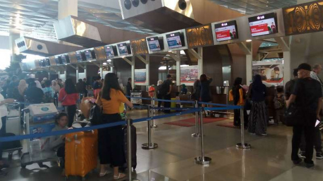Suasana di Terminal 3 Bandara Soekarno Hatta.