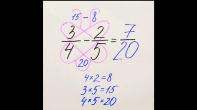 Trik perkalian matematika kupu-kupu.