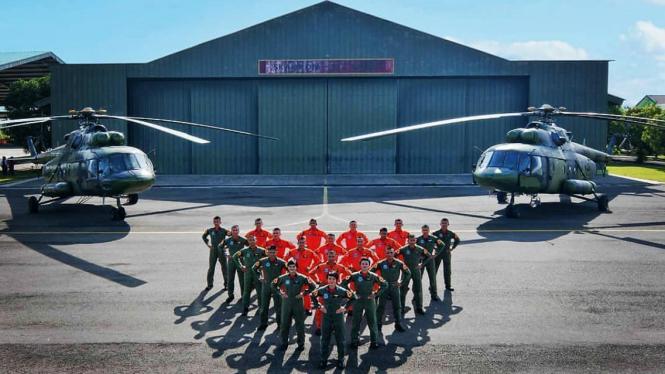 Taruna Akademi Militer Korps Penerbad TNI AD.