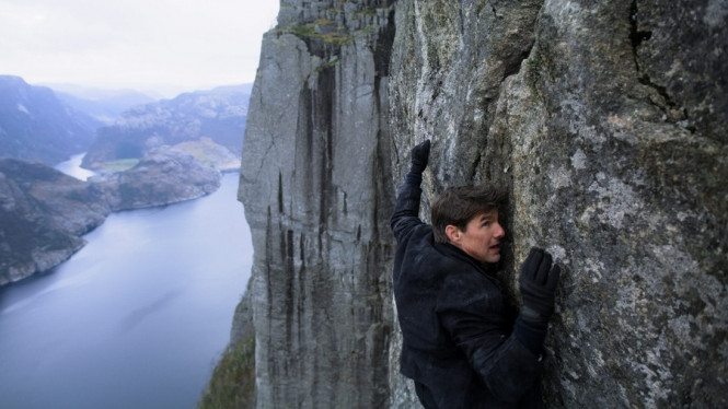 Tom Cruise di Mission Impossible - Fallout