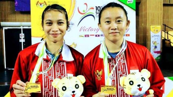 Ganda putri Indonesia, Melani Mamahit/Putri Larasati di Asean Schools Games 2018