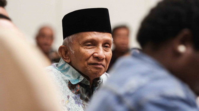 Ketua Dewan Kehormatan Partai Amanat Nasional (PAN) Amien Rais.