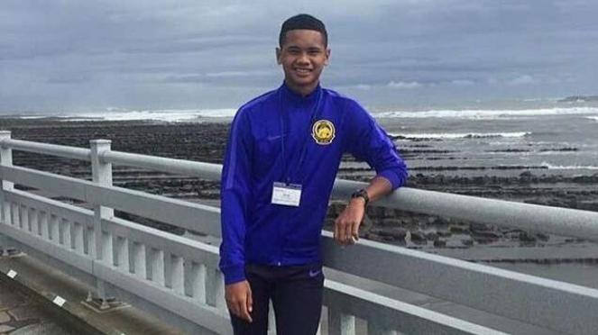 Pemain timnas Malaysia U-16, Amirul Ashrafiq Hanifah