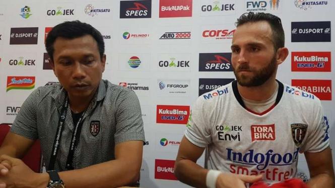 Pelatih Bali United, Widodo C Putro dan Ilija Spasojevic