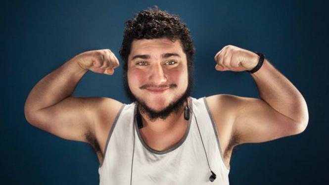 Ilustrasi pria gemuk