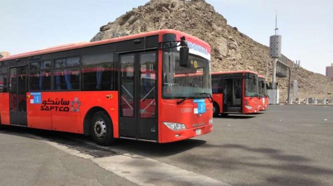 Bus Salawat untuk mengantar jemaah haji 24 jam nonstop