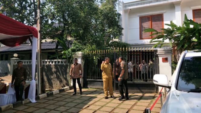 Suasana di rumah Prabowo jelang pertemuan dengan SBY