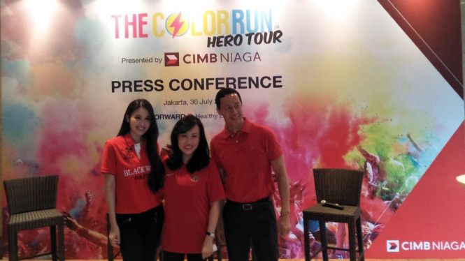 Konferensi pers The Color Run Hero Tour
