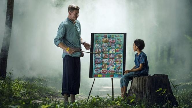 Ilustrasi mendidik anak.