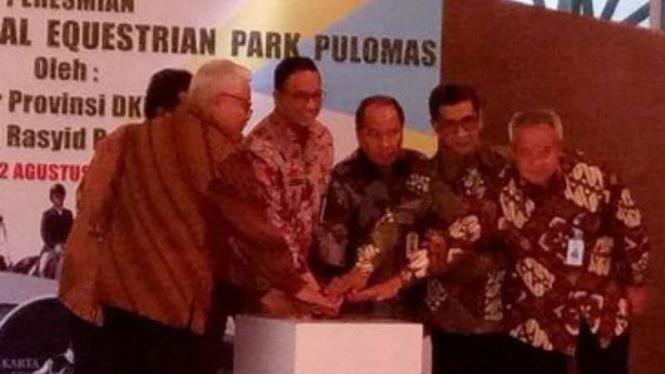 Gubernur DKI Jakarta Anies Baswedan resmikan venue pacuan kuda Pulomas
