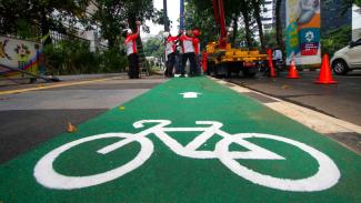 Ilustrasi jalur sepeda.