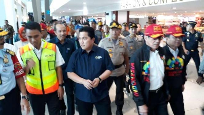Ketua INASGOC, Erick Thohir meninjau langsung kesiapan Bandara Soekarno Hatta.