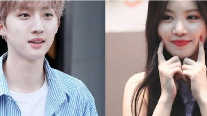 PENTAGON's Hui and (G)I-DLE's Soojin