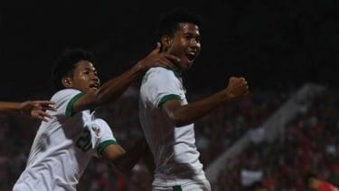 Pemain Timnas Indonesia U-16,  Amiruddin Bagus Kahfi dan Amiruddin Bagas Kaffa.