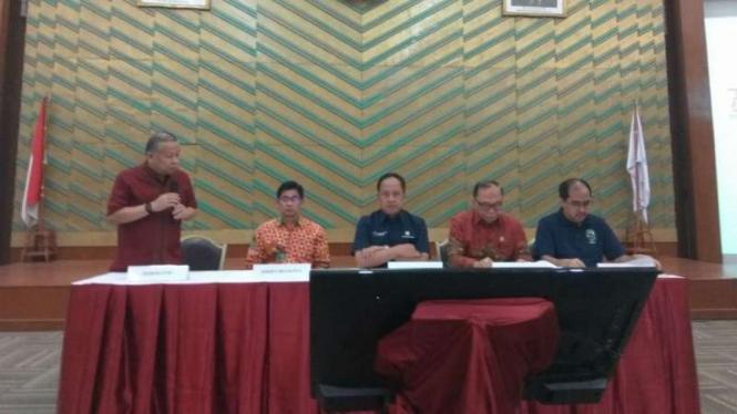 Konferensi pers acara Harmoni Indonesia 2018, di Jakarta, Jumat, 3 Agustus 2018.
