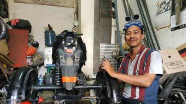 Modifikasi Motor Roda Tiga Pengubah Hidup Difabel Di Indonesia Viva