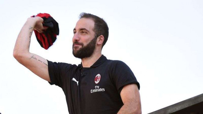 Penyerang anyar AC Milan, Gonzalo Higuain