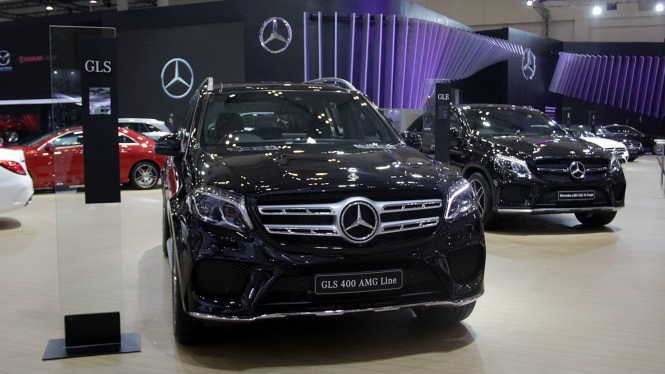 Mercedes-Benz GLS 400 AMG Line di GIIAS 2018, Booth Mercedes-Benz