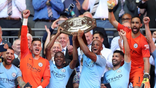 Manchester City menjadi juara Community Shield