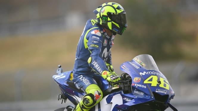 Pembalap Movistar Yamaha, Valentino Rossi.