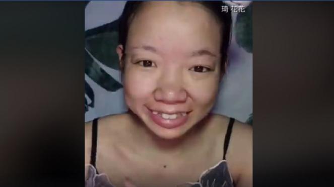 Qi Huahua sebelum make-up