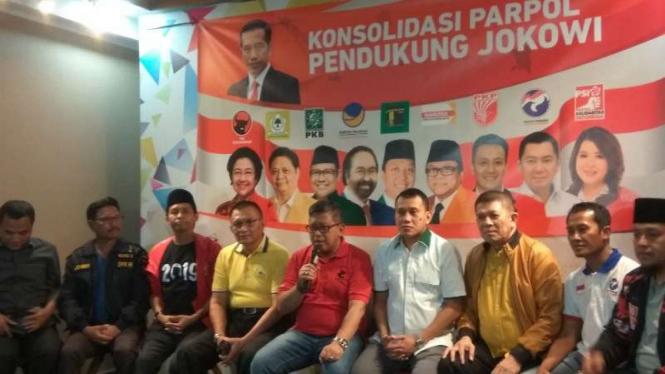 9 Sekjen Parpol Pendukung Jokowi Kumpul Ada Politik Makanan