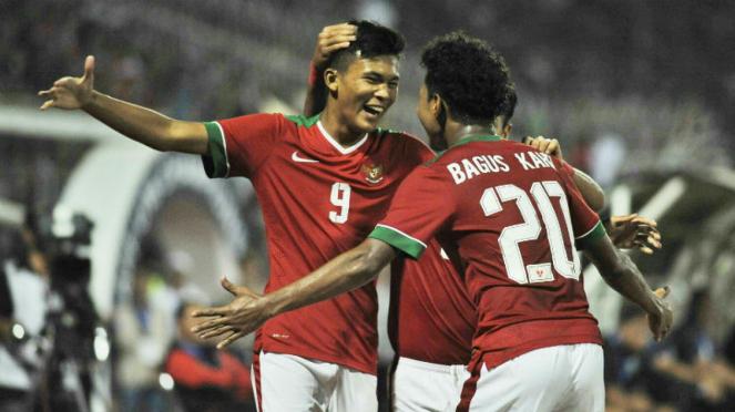 Para pemain Timnas Indonesia U-16 di Piala AFF U-16 2018
