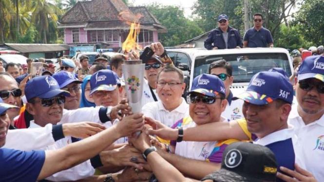 Obor Asian Games 2018 Diarak Keliling Sumsel,